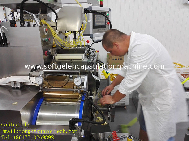 Liquid filling Softgel Encapsulation Equipment  factory Pharmaceutical With PLC Control