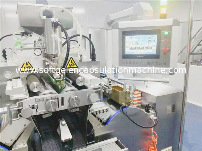 Various Shape Oil Filling Soft Gelatin Capsule Maker Machine 1800 Kg Weight