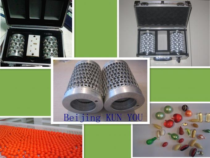 Aluminium Alloy Soft Capsule Mold / Die Roll for painball and softgel capsule production